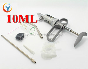 10ml continuous injector veterinary syringe