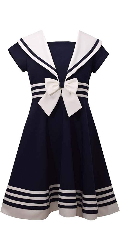 c272300f8de Get Quotations · Bonnie Jean Big Girls  Fit and Flare Nautical Dress