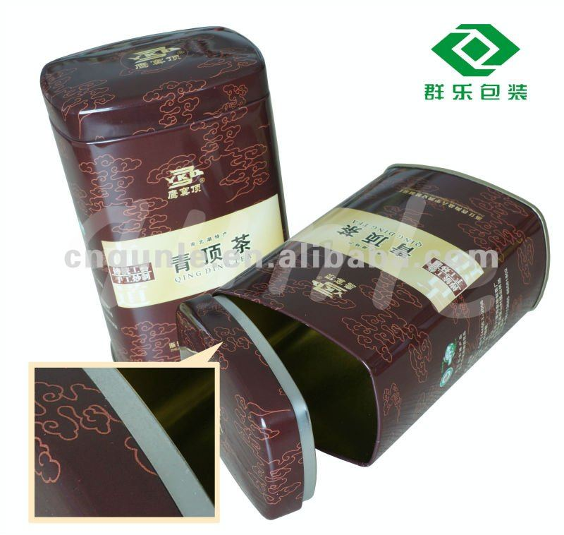 Rectangular Tin caddy Cans for packing coffee