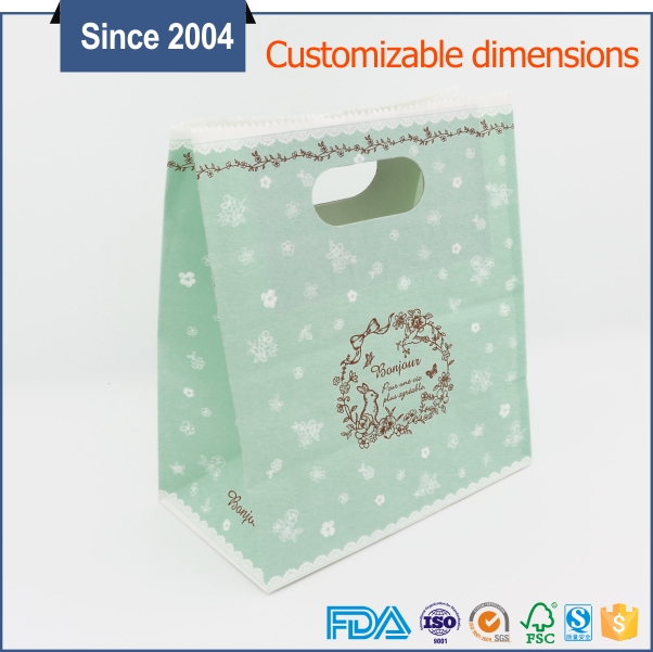 Eco friendly reusable kraft handle fruit packing bag wholesale