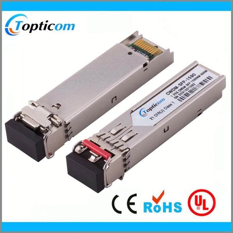CWDM SFP 1.25G 50KM 1570nm LC Connector 0-70Degree Compatible with Source Photonics