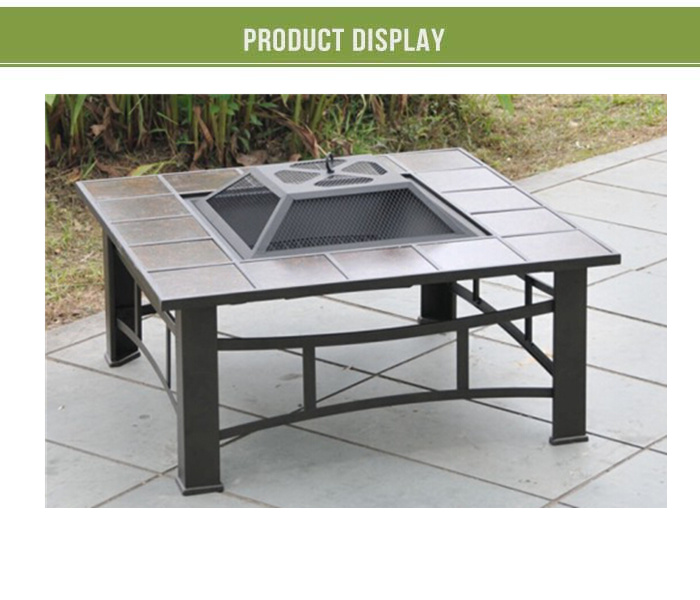 Bbq Fire Pit Table Square Fire Pit With Removable Tiles