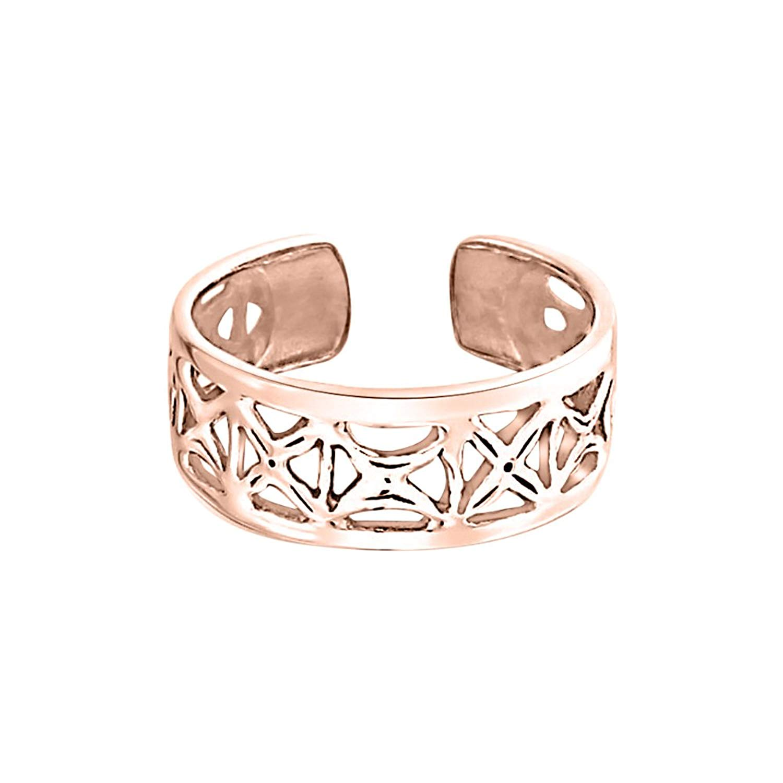 Dabangjewels Filigree Butterfly Toe Ring Adjustable 18K White Gold Plated Midi Ring