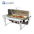 Luxury C053 Heavy Duty Round Roll Top Induction Chafing Dish With Glass Lid And Cylindrical Frame