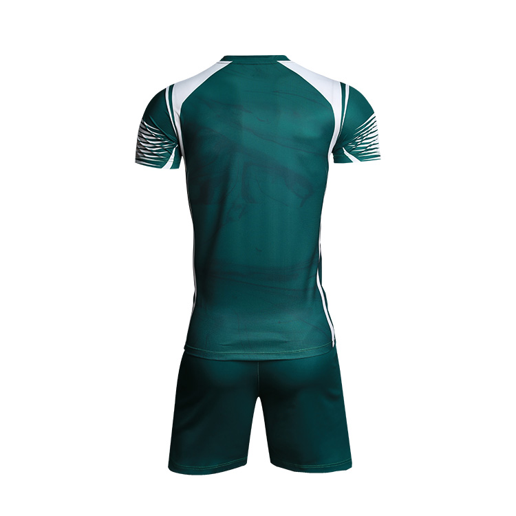 China Custom New Design Your Own 100% Polyester Sublimation Mens Short Sleeve Green Volleyball Jersey Wholesale