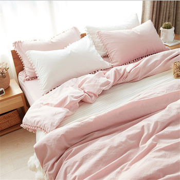 2017 New Design Ribbon Embroidery/lace Bedding Sheet Set
