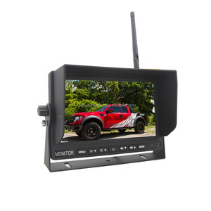 7 inch hd monitor wireless ir night vision rear view back up camera system for rv truck trailer