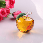 Colorful Faceted Crystal Glass Apple Paperweight for Merry Christmas and Wedding Favor Gifts HJT0035