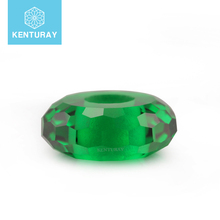 Green Glass Beads Synthetic Gemstone Fancy Bead For Wholesale