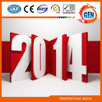 2014 fashion nice printed hot selling pvc ceiling films for decoration ;2.35-3.2 M Width