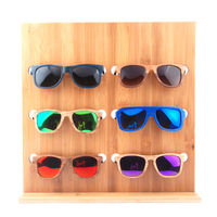 custom bamboo sunglasses display, bamboo eyewear display stand