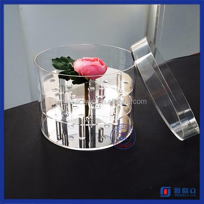 Plastic Flower Box,Clear Flower Vase Display Case,Natural Pink ...