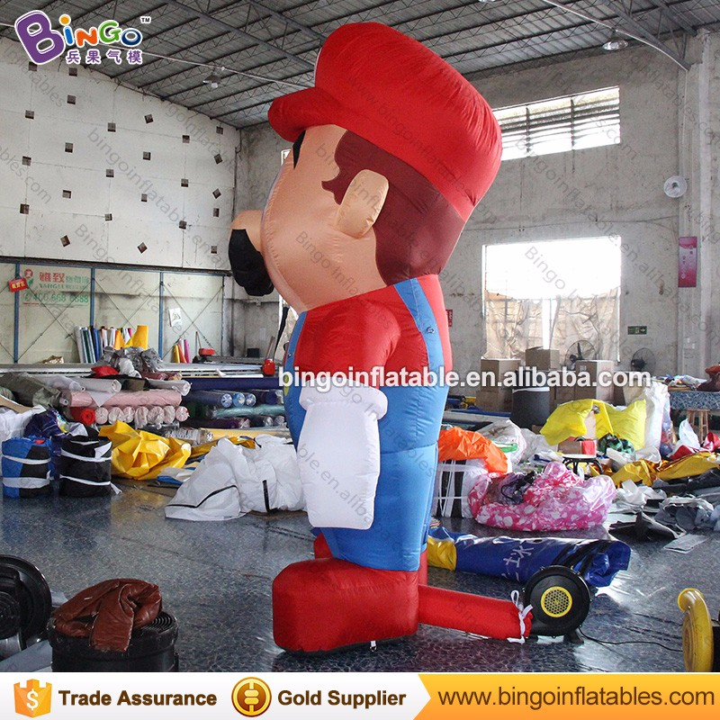 Cute advertising type inflatable super mario Cartoon characters