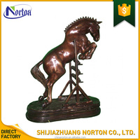 Yard ornament life size antique bronze horse sculpture for sale NT-BS086K