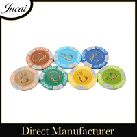 Clay poker chips for gambling