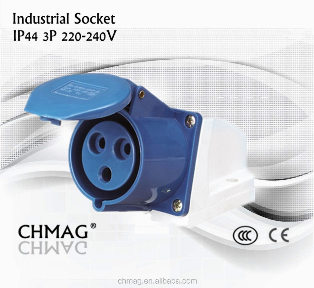 industrial socket 113 123 female socket 16a/32a IP44 3Pin 220-240V, Industrial female plug and socket