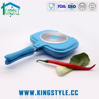 Water and oil paint exterior square fry pan lid, double sided fry pan non stick