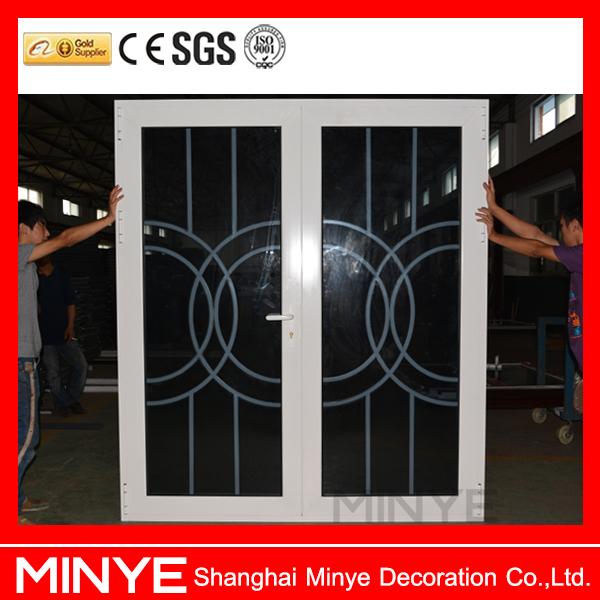 China Suppliers Aluminum Front Double Door Grill Design/main Door ...
