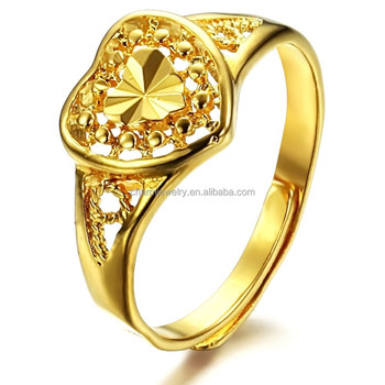 Copper 18k Gold Classic Wealth Finger Male Wedding Ring Adjustable