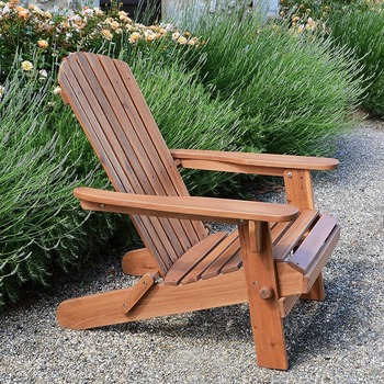 Outdoor Leisure Chair Waterproof Wood Composite Adirondack Chair