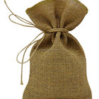 Natural Burlap drawstring Bags jute Pouches for Jewelry, Gift Bag