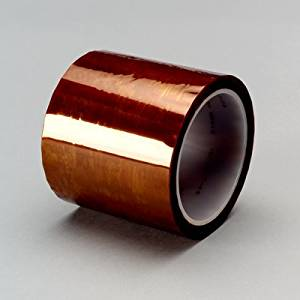 3M Kapton 5413 Amber Insulating Tape - 3/8 in Width x 2.7 mil Thick - Electrically & Thermally Insulating - Flame Retardant - 16171 [PRICE is per ROLL]