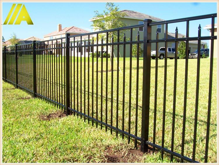 8 10 Feet Height Black Aluminum Fence Panels Buy