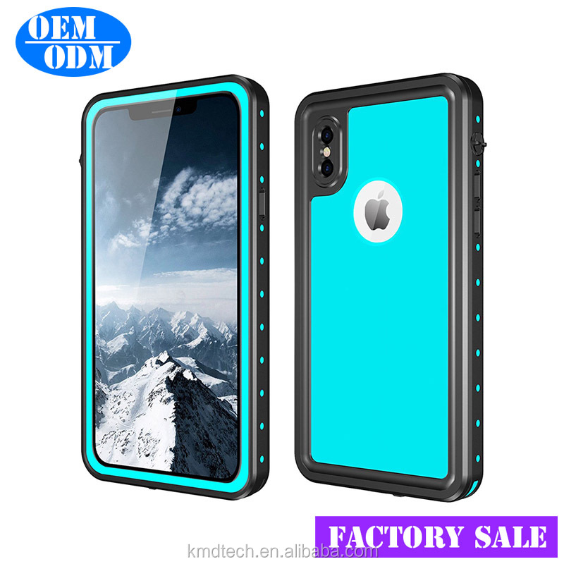 For iPhone X IP68 Waterproof Case, Face ID Compatible Rugged Case with Built in Screen Protector for iPhone X 5.8 inch