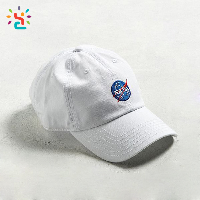 2 pcs with Custom Embroidered Logo White New Era Hats