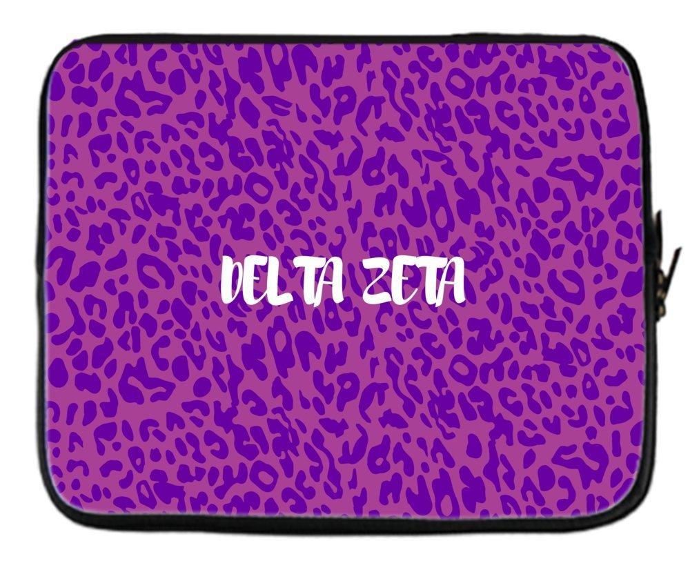 869e63545535 Buy Delta Zeta (DZ) Animal Print Purple Neoprene Sleeve Case for 15 ...