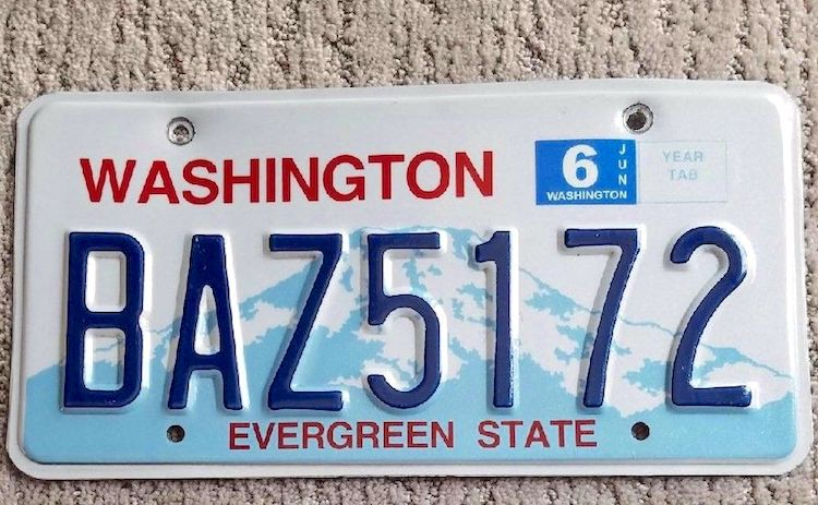 WASHINGTON Different Letter Metal Decoration Souvenir Car License Plate Emoboss Number Sign