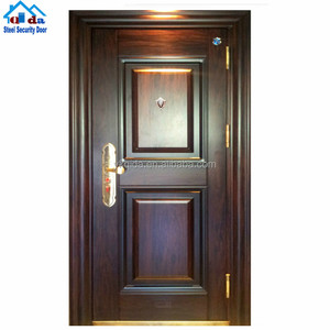 8 Panel Exterior Security Steel One And Half Door
