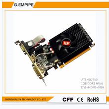 original graphics card Desktop computer game for Sapphire HD7450 1024M DDR3 64bit DVI+VGA+hdmi for ATI  free shipping