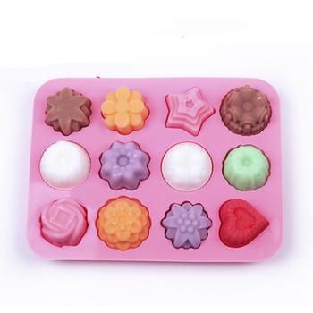 wholesale Cute Silicone Chocolate Mold Maker Ice Cube Tray Freeze Mould Bar Pudding Jelly tray