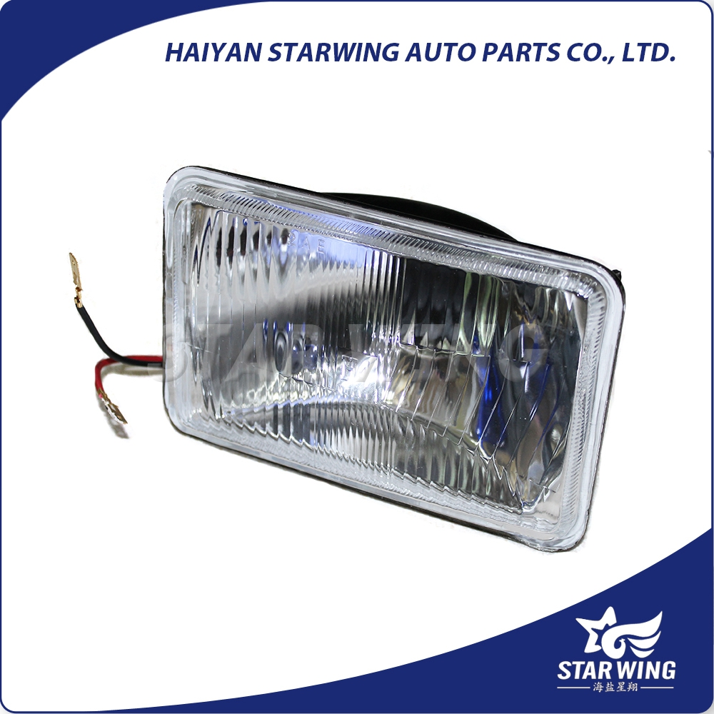 best quality semi sealed beam/headlight/headlamp/metal sealed beam/auto lamp/5inch square /H4652/H6001/H4651/H6000/auto bulb/H4