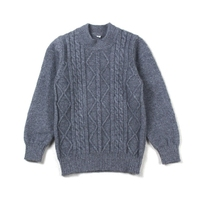 P18B036CH organic kids clothing children 100% cashmere cable knit sweater pullover for boys