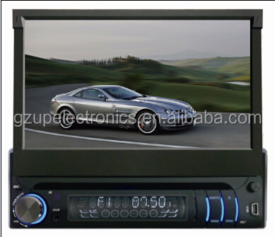 1 din 7 inch car DVD player Car dvd player with GPS BLUETOOTH PHONE BOOK HD 1080P
