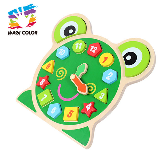 Wholesale best selling diy wooden intelligent 3d animals puzzle for kids W14C250