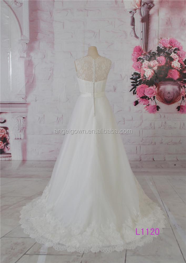 Elegante a-line vestido de mujer madura vestidos de boda precio al ...