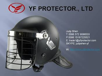 AH006 Anti Riot Helmet with steel cage/Steel shield helmet