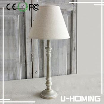 Hand Turned Wooden Table Lamp Base Crystal Table Lamps For Bedroom