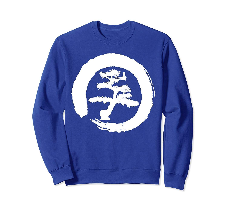 Zen Style Bonsai Tree Enso Circle Sweatshirt