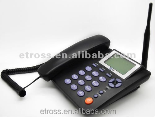 ET-623 1 SIM card GSM FWP Fixed Wireless Phone with LCD / Desktop Phone (900/1800MHZ) ,support SMS ,headset