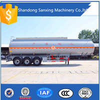 3 axles 50000liters oil tanker semi-trailer/chemicing liquid tank trailer/fuel tanker semi-trailer truck for sale in Duba