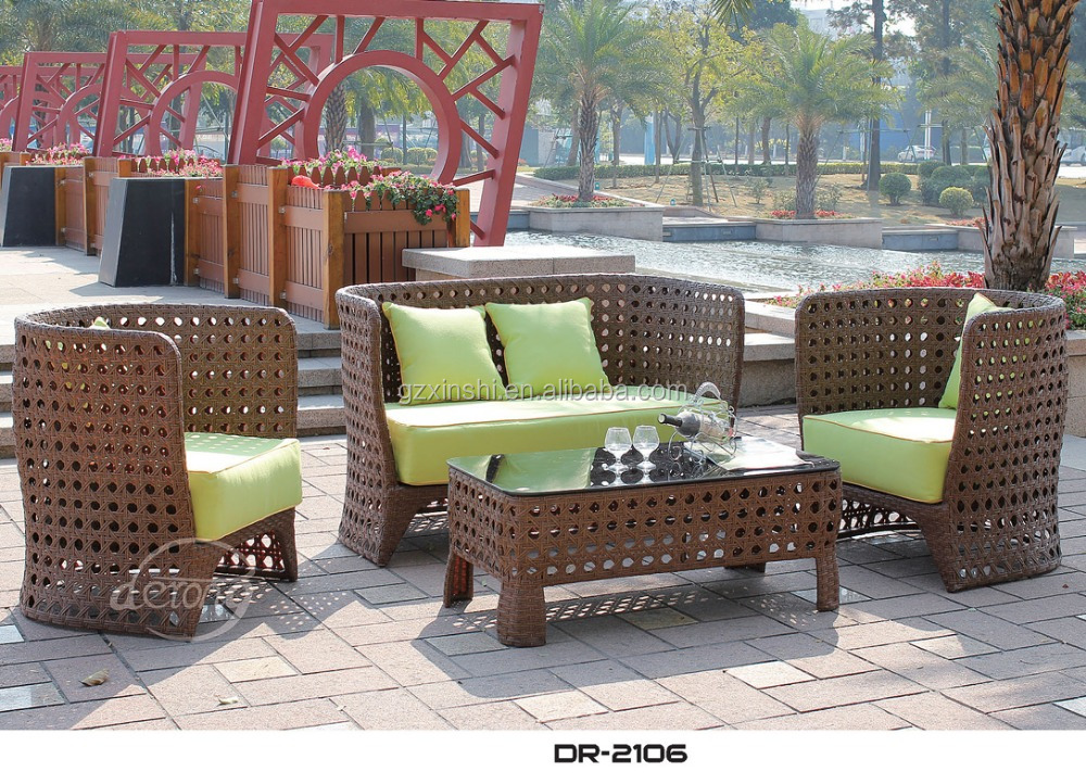 Cheap Bali Island Holiday Style Outdoor Wicker Furniture Rattan Sofa Outdoor Furniture Philippines Manila