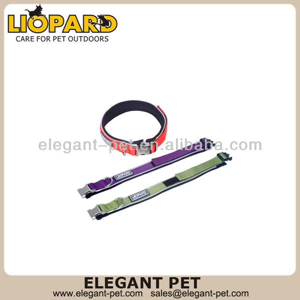 High quality professional leopard grain series dog collar