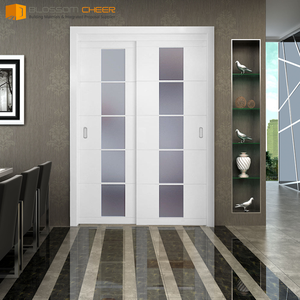 Modern white lacquer mdf used sliding wood interior doors sale