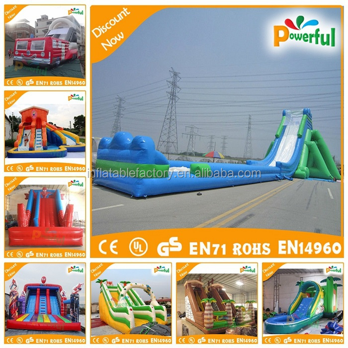 0.55mm PVC colorful bounce house inflatable water slide for sale
