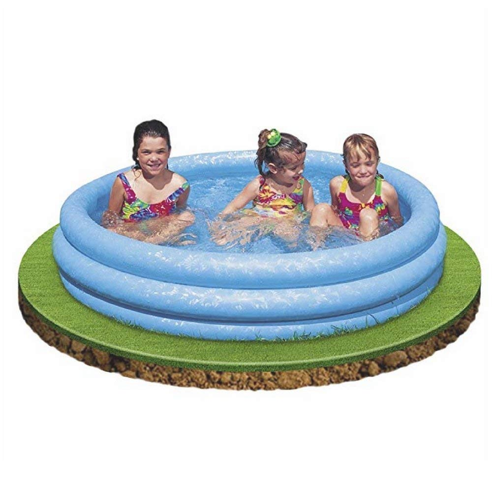 Ix Round Inflatable Pool, Premium Quality, Blue Color, Lightweight For Easy Transportation, Ideal For Kids Up To 3 Years Of Age, Lightweight, Sturdy And Durable Construction & E-Book Home Decor