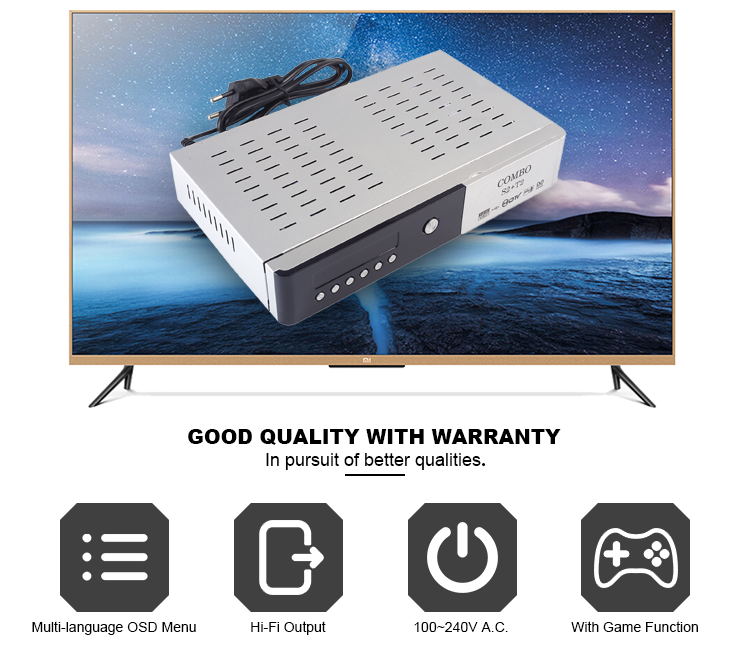 free utv gtv ghana Support CCCam DVB T2 + S2 Set top box HD dvb t2 box dvb t2 receiver hd digital satellite receiver